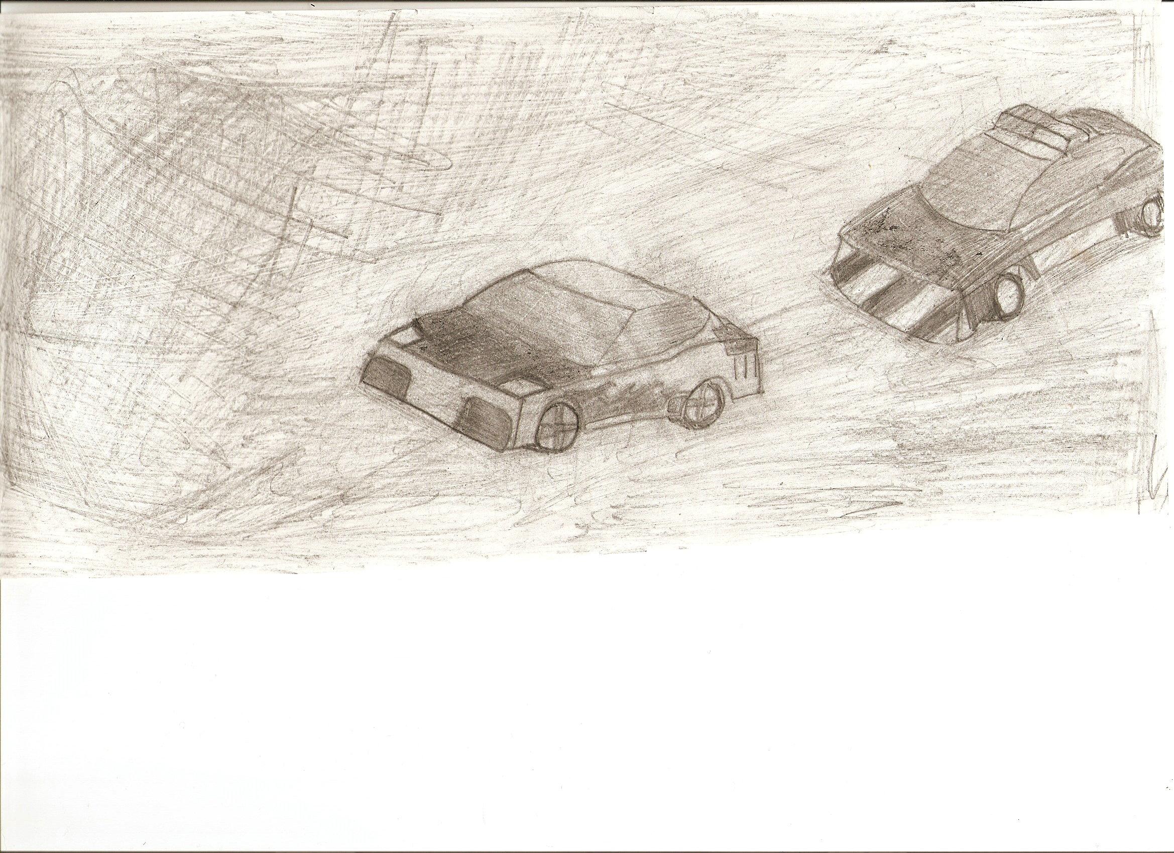 Lamborghini and cop car