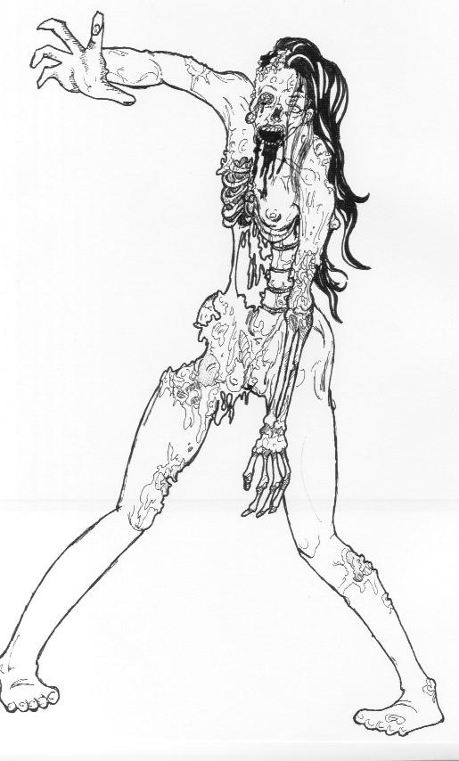 Sexy zombie lady