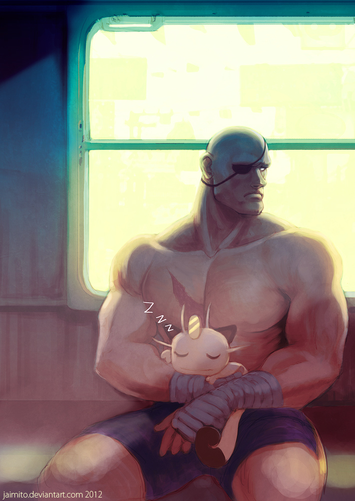 Sagat and his meowth