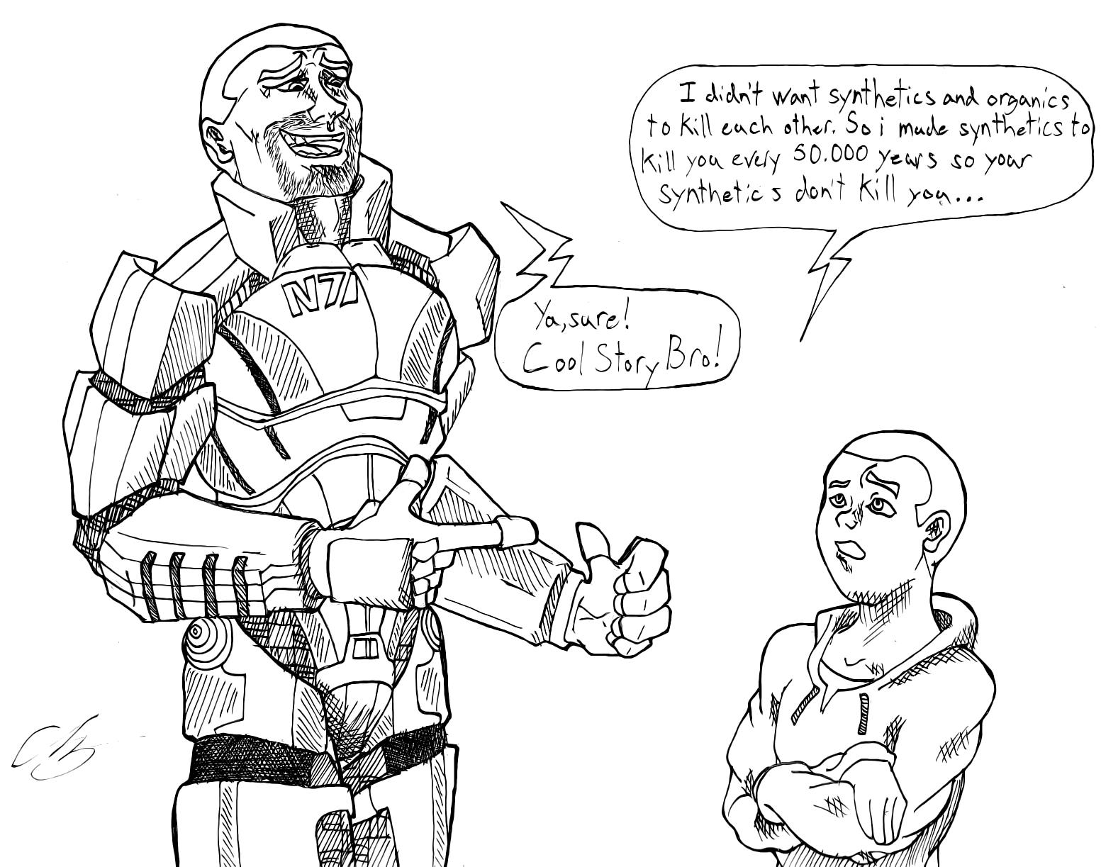 Mass Effect Cool Story Bro
