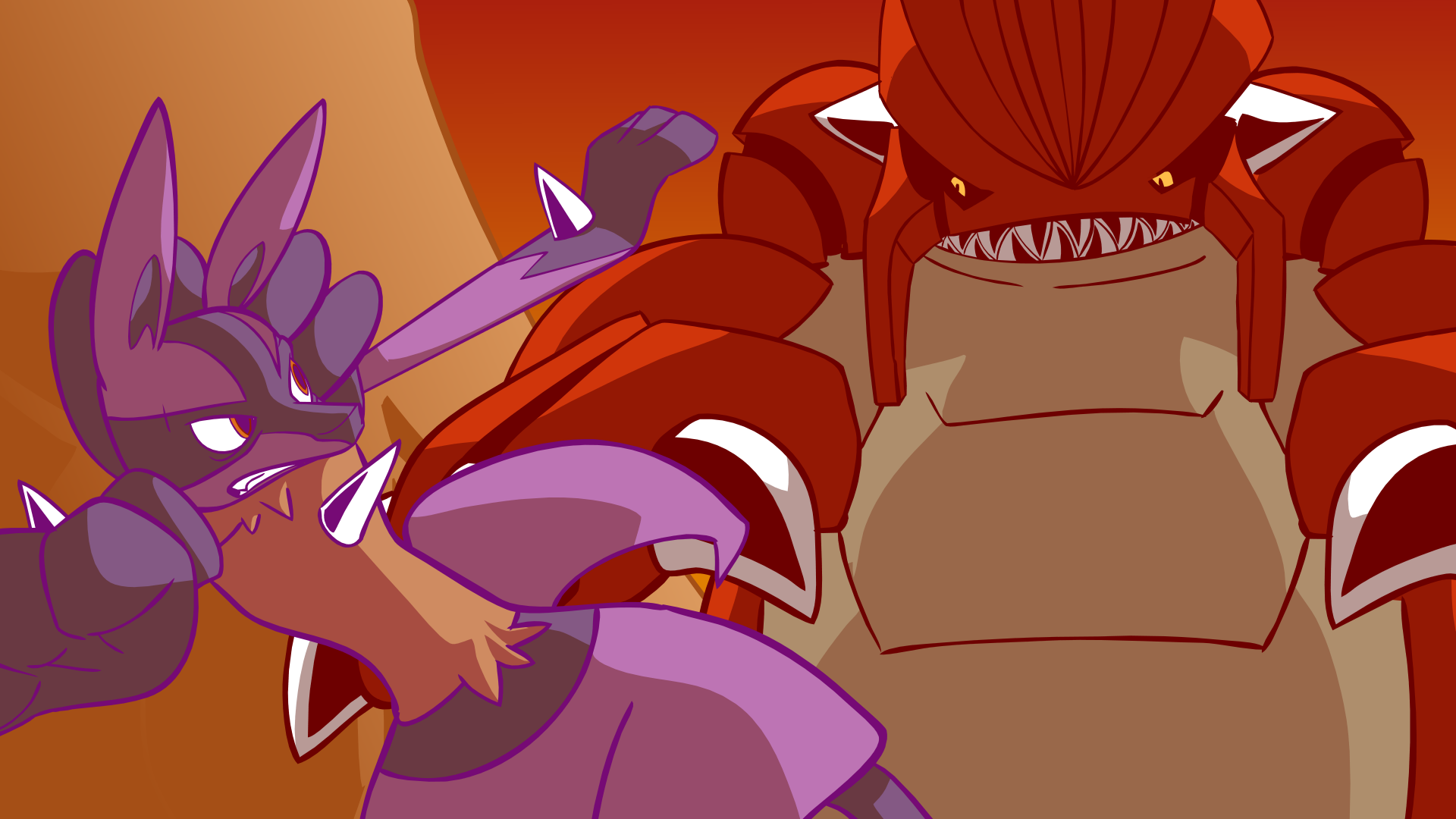 Lucario finds Groudon