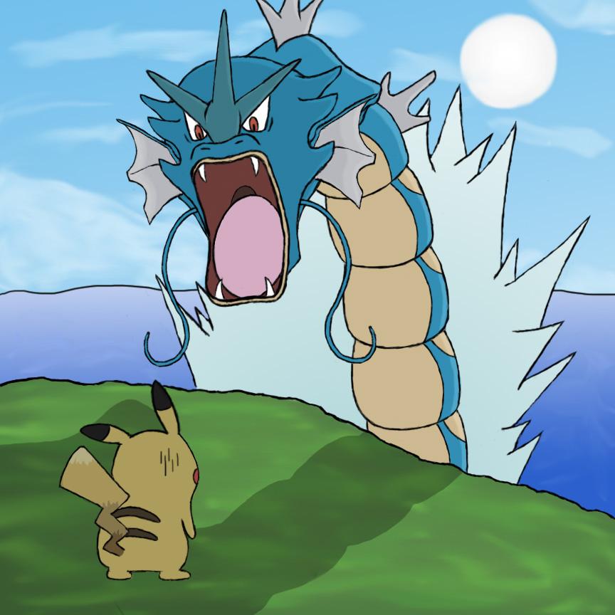 Pikachu vs Gyarados
