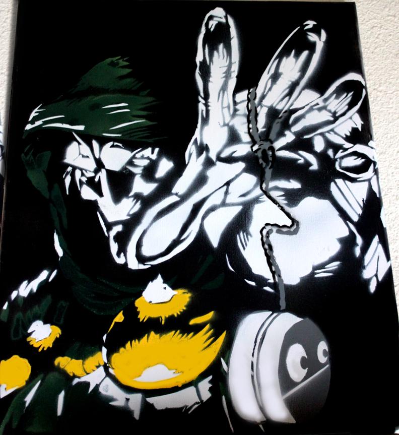 Dr. Doom Stencil