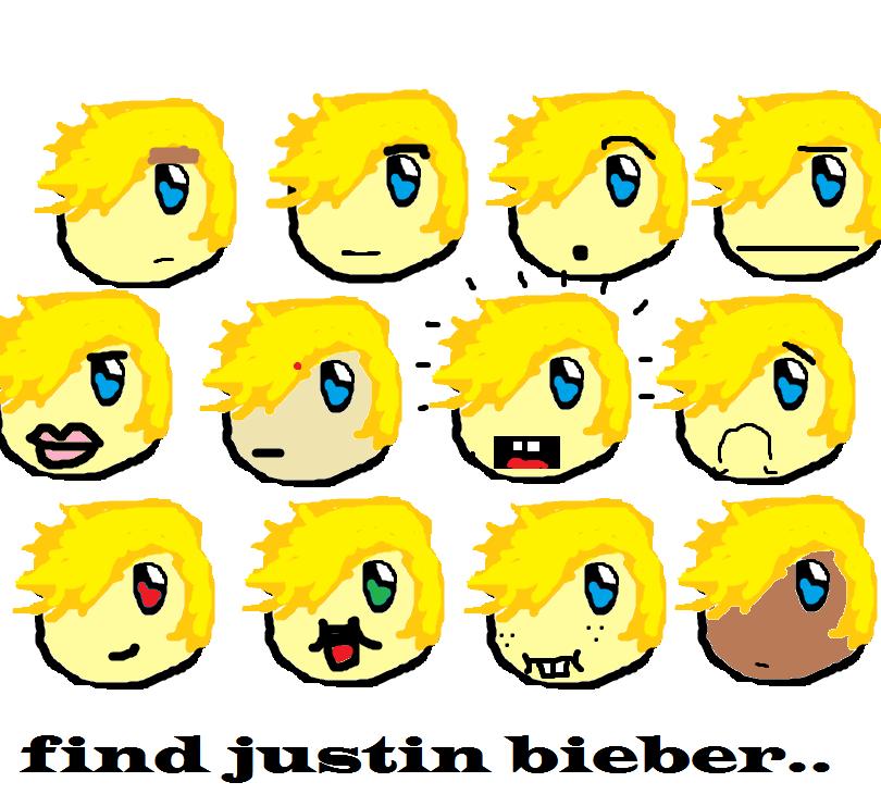 Find Justin Bieber :3