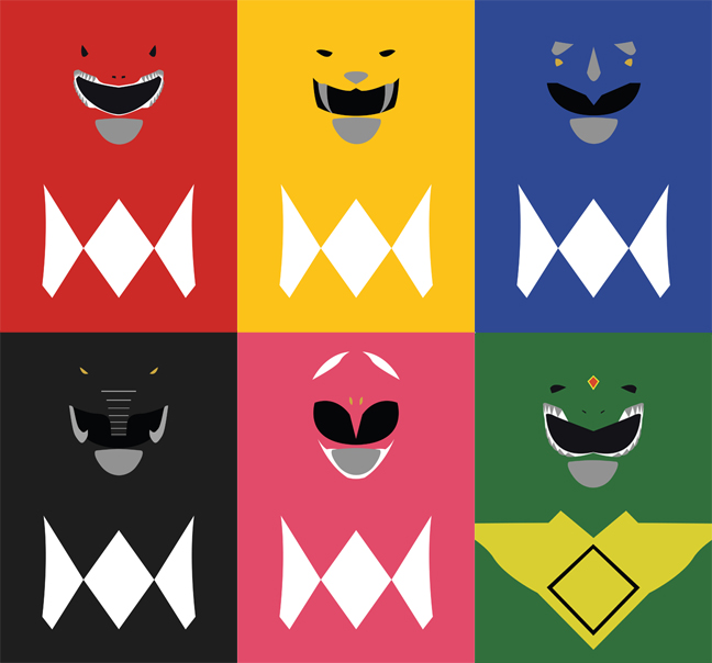 Power Rangers Minimalism