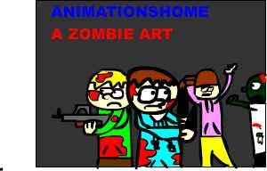 a zombie art