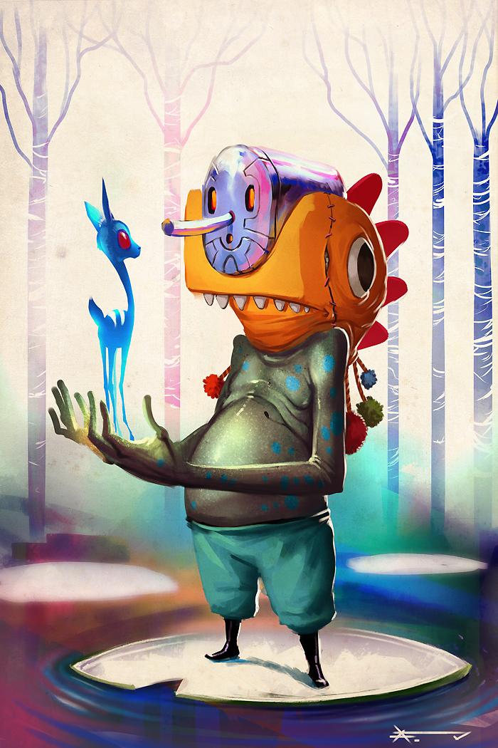 strange frog dude