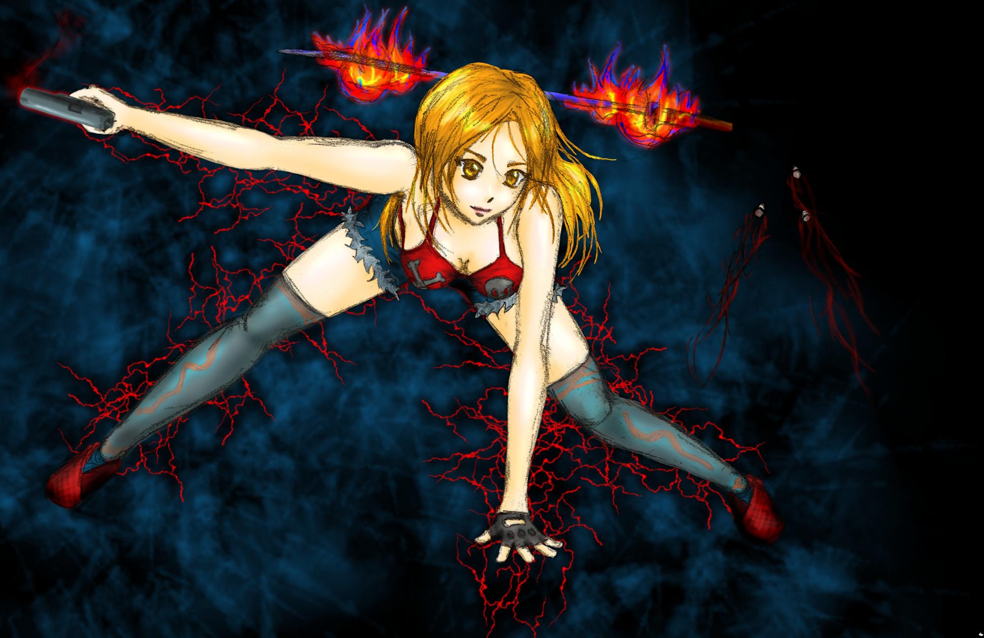 Yumemi action pose