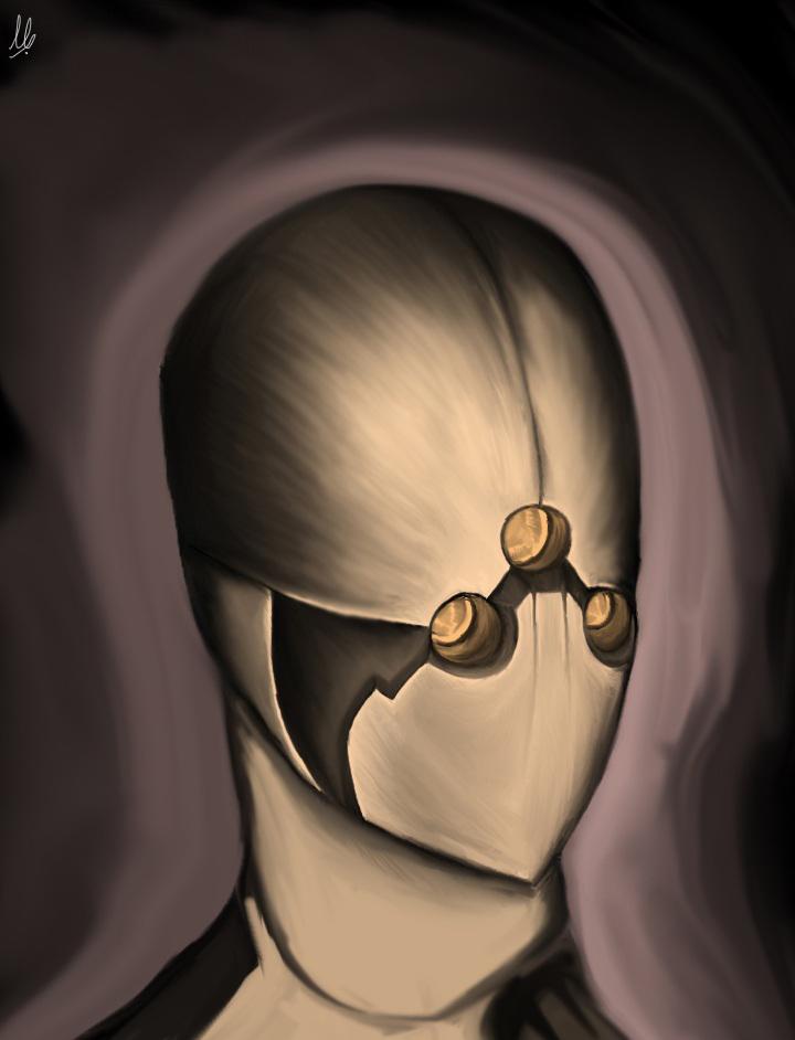 Droid portrait.