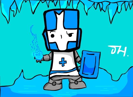 Castle crashers Blue knight