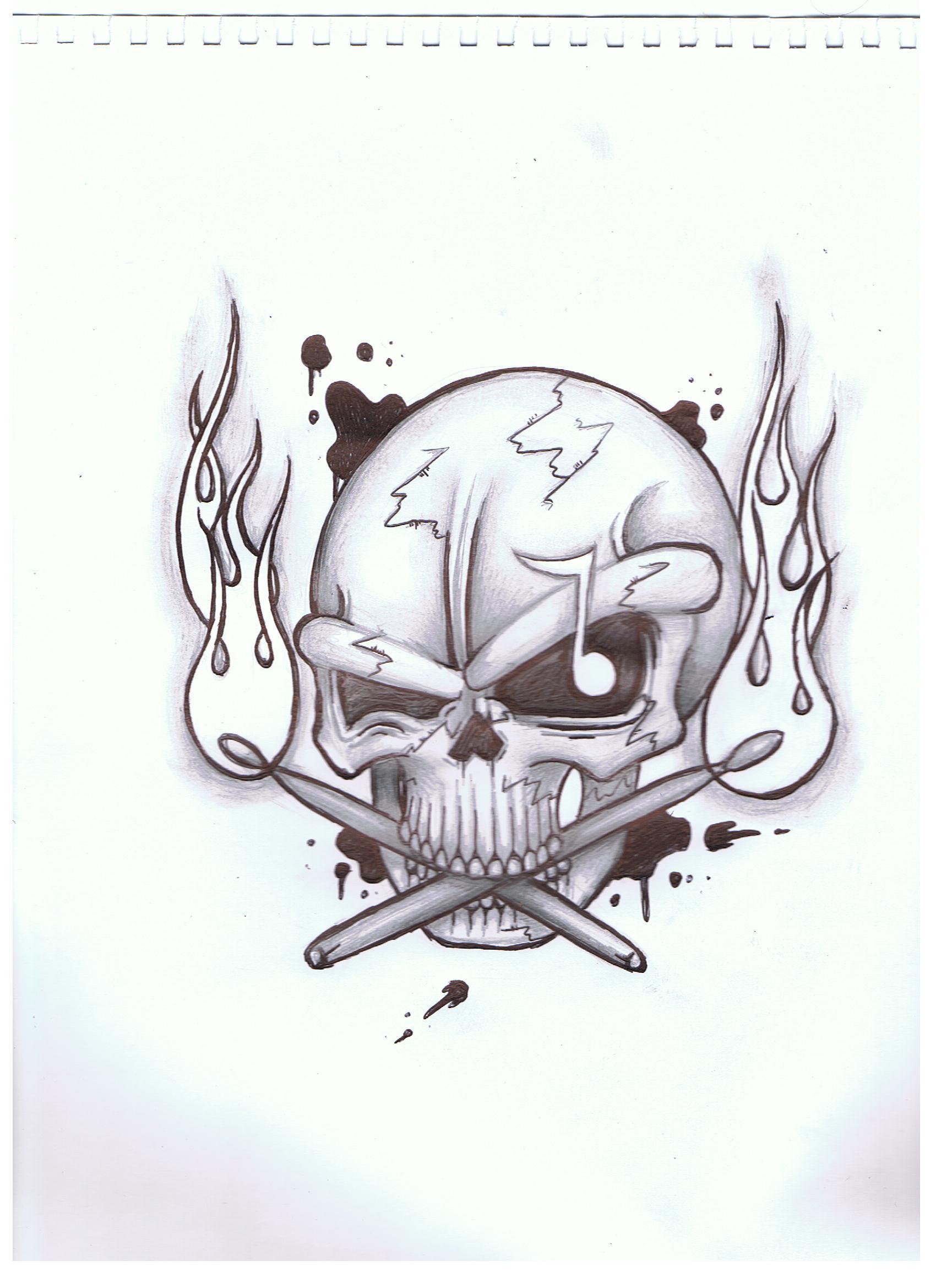 Skull Drummer
