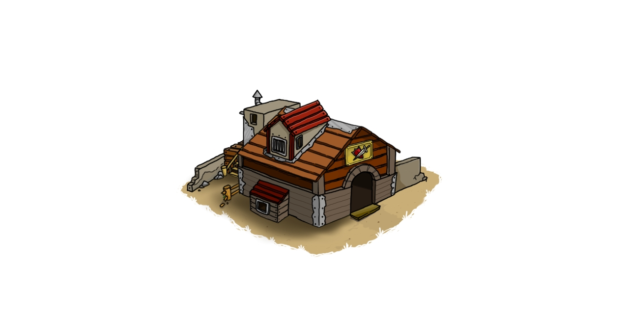 Cabin for barracks lvl 2