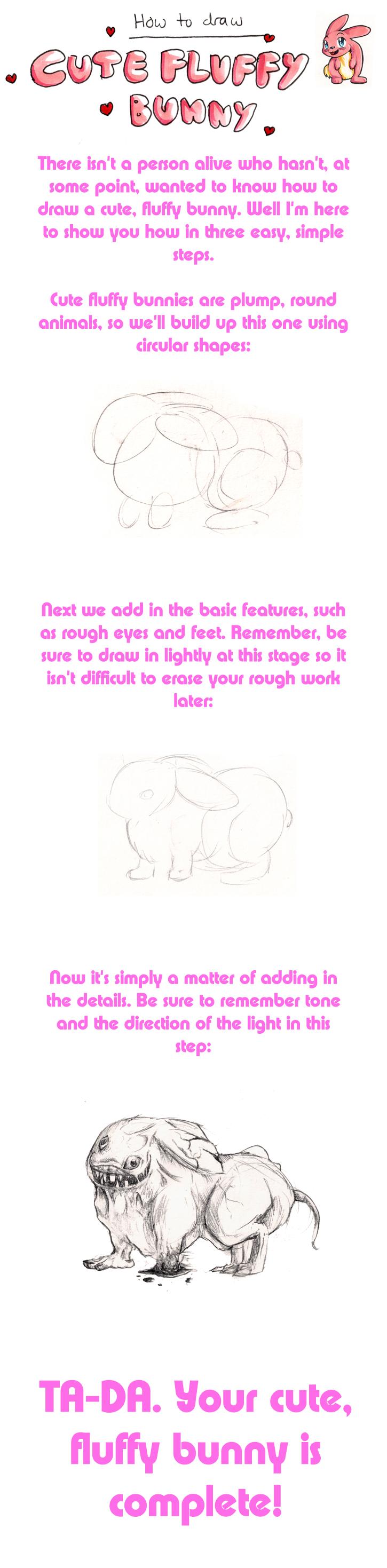 Cute, Fluffy Bunny Tutorial