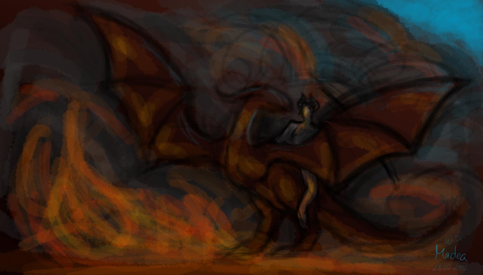 Concept Sketch Dragon+Rider