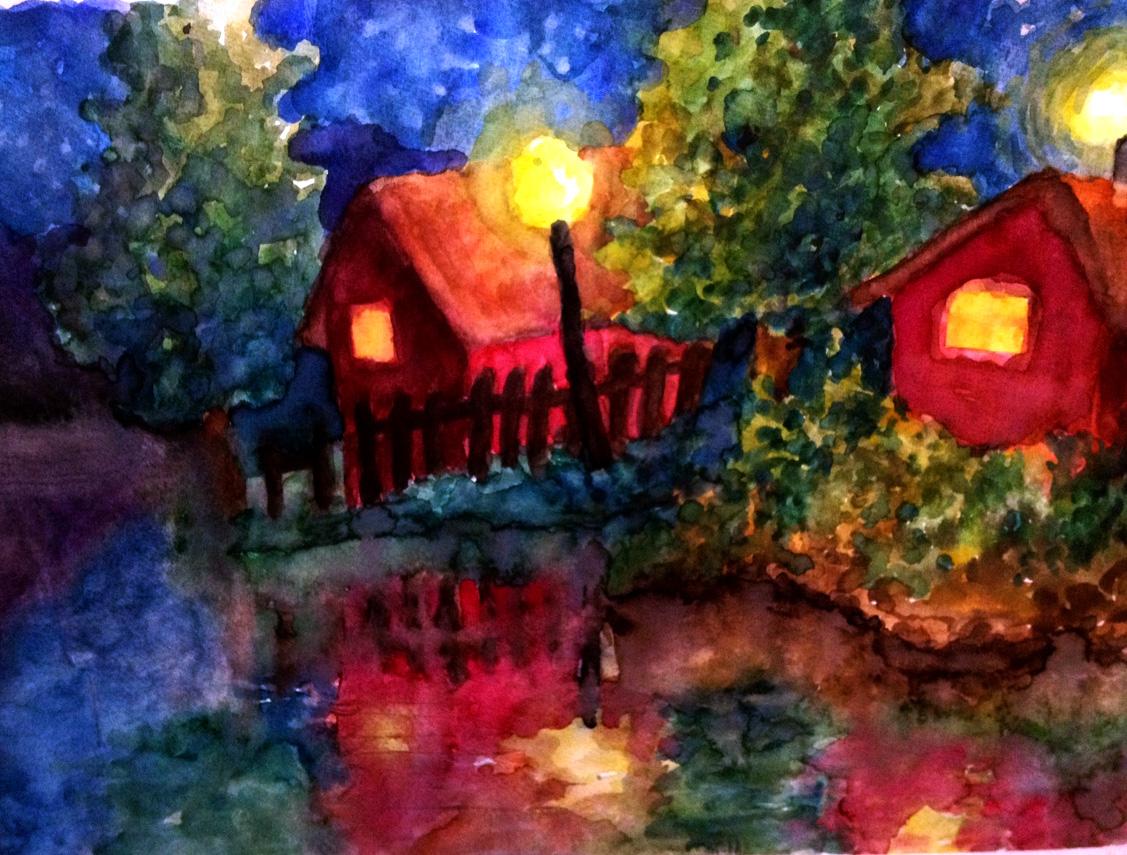 Dusk houses