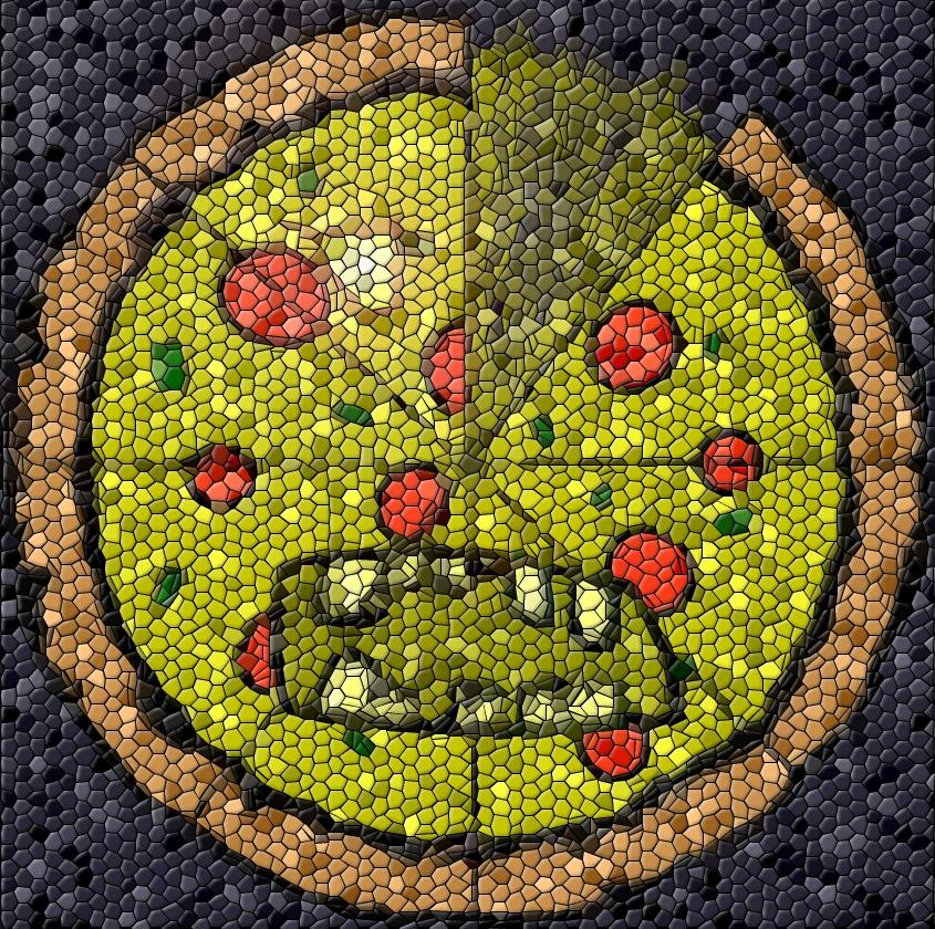 Zombie Pizza Mosaic