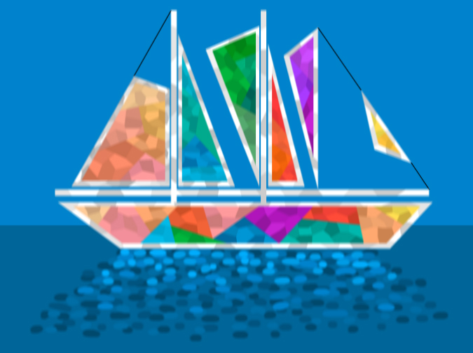 Stainglass Boat