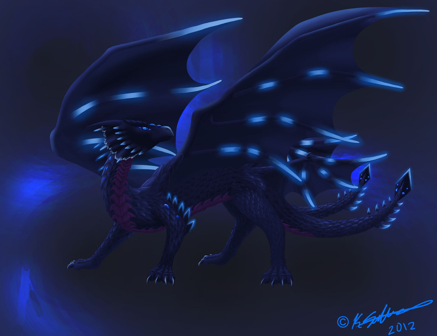 Bluish Black Dragon Thing