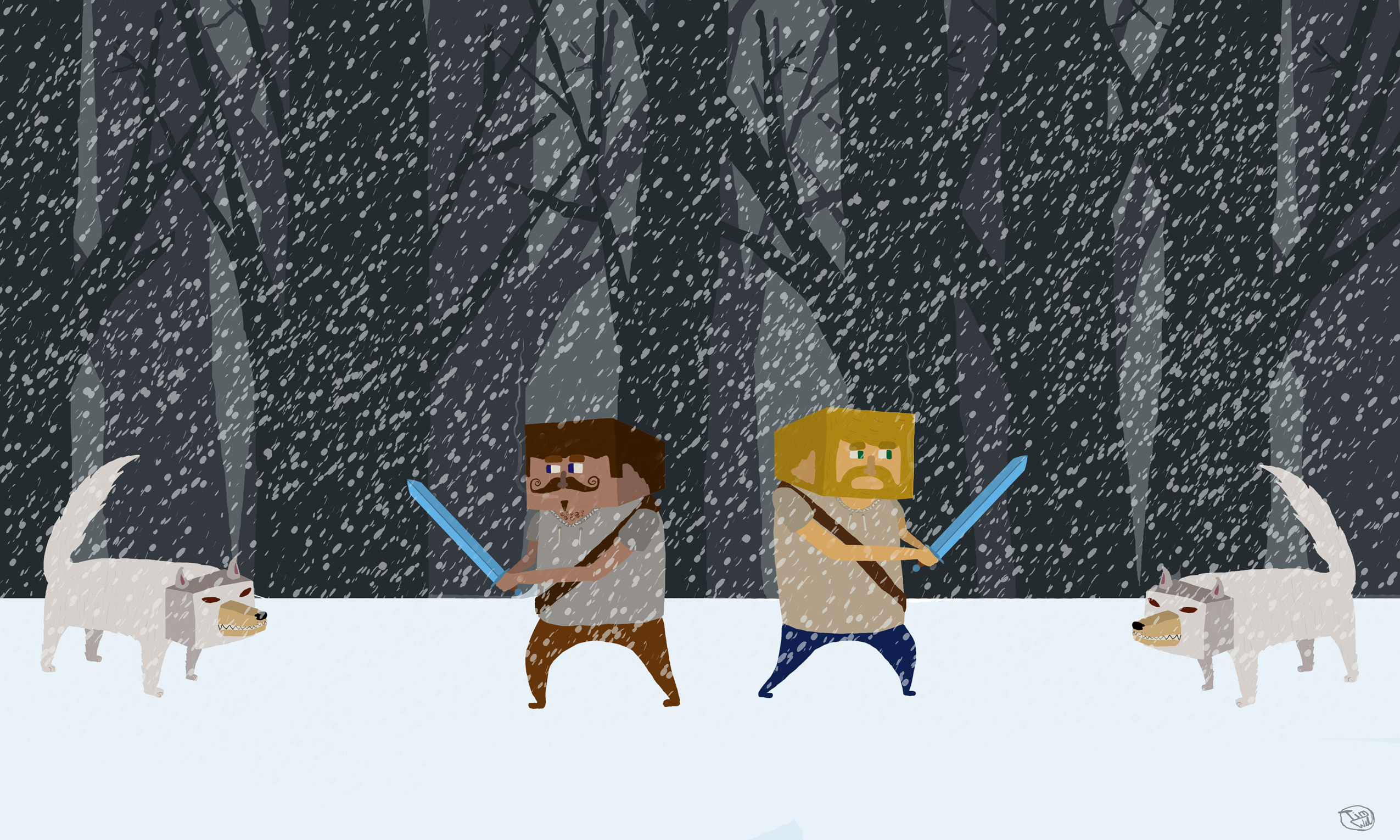 Fighting in the Snow