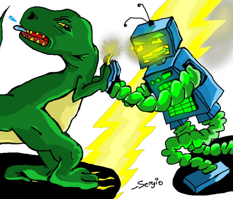 Robo Dino battle!