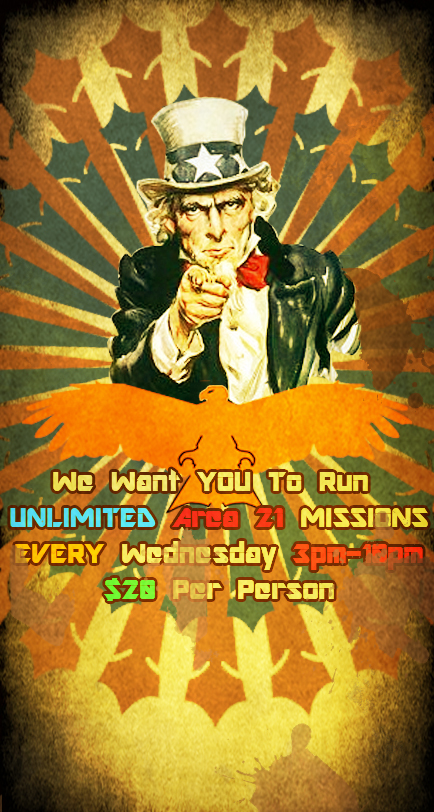 Unlimited Laser Tag Poster!
