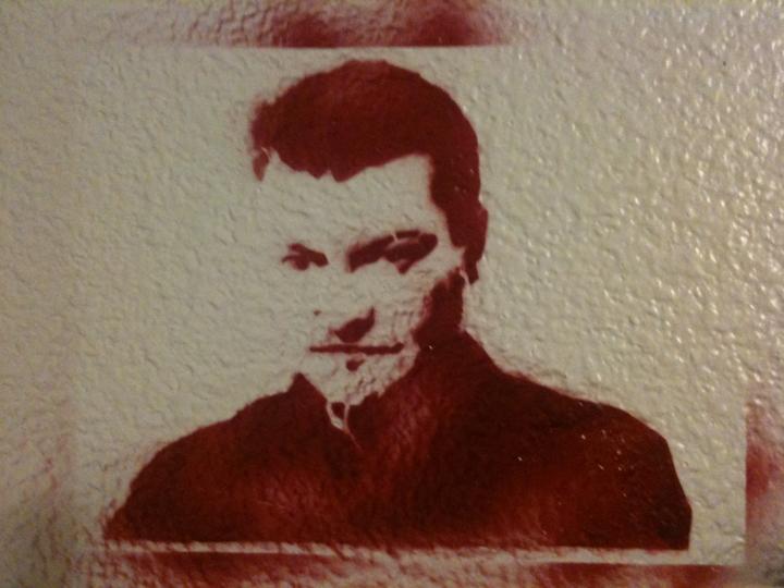 Charlie Brooker Stencil