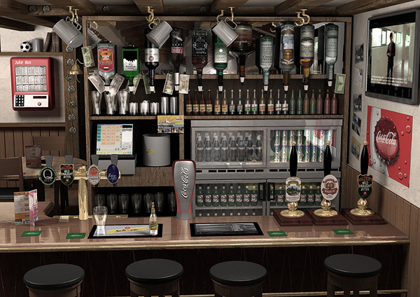 insanely detailed pub