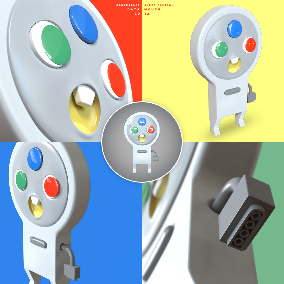 Controllers - Super Famicon 3D