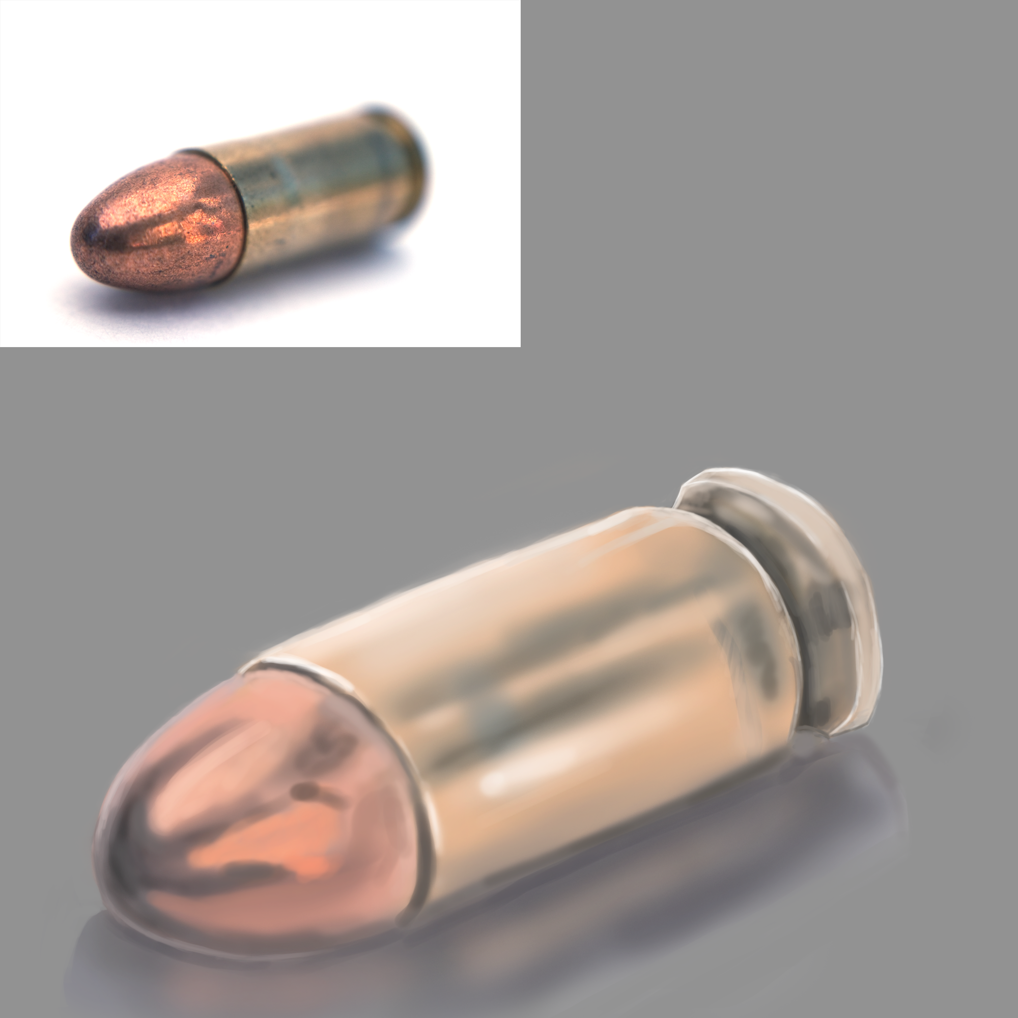 Bullet Digital Paint Practice