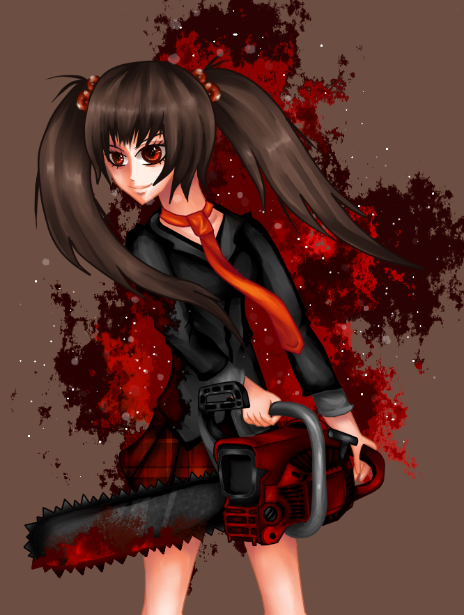 Girl with chainsaw,lol xD