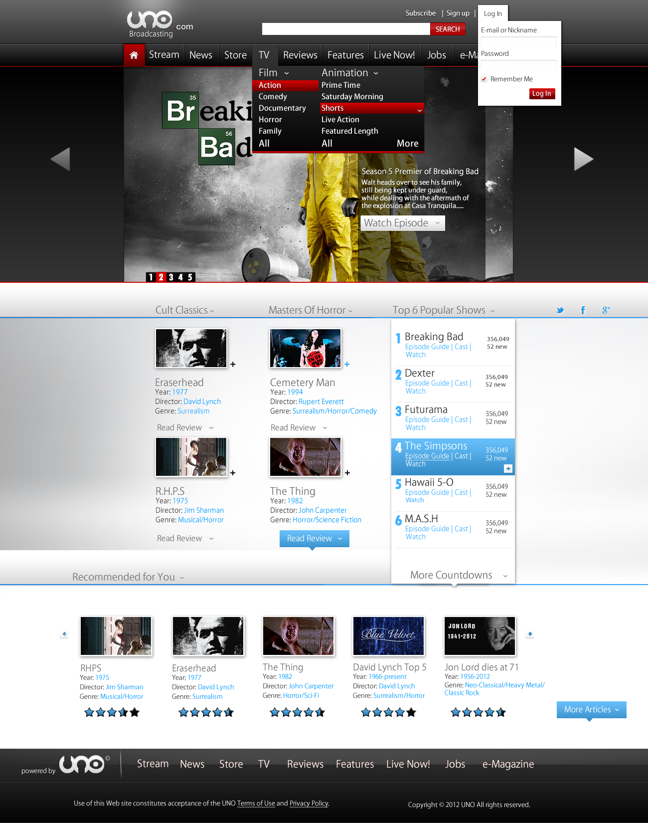 Dark and Red Web Template