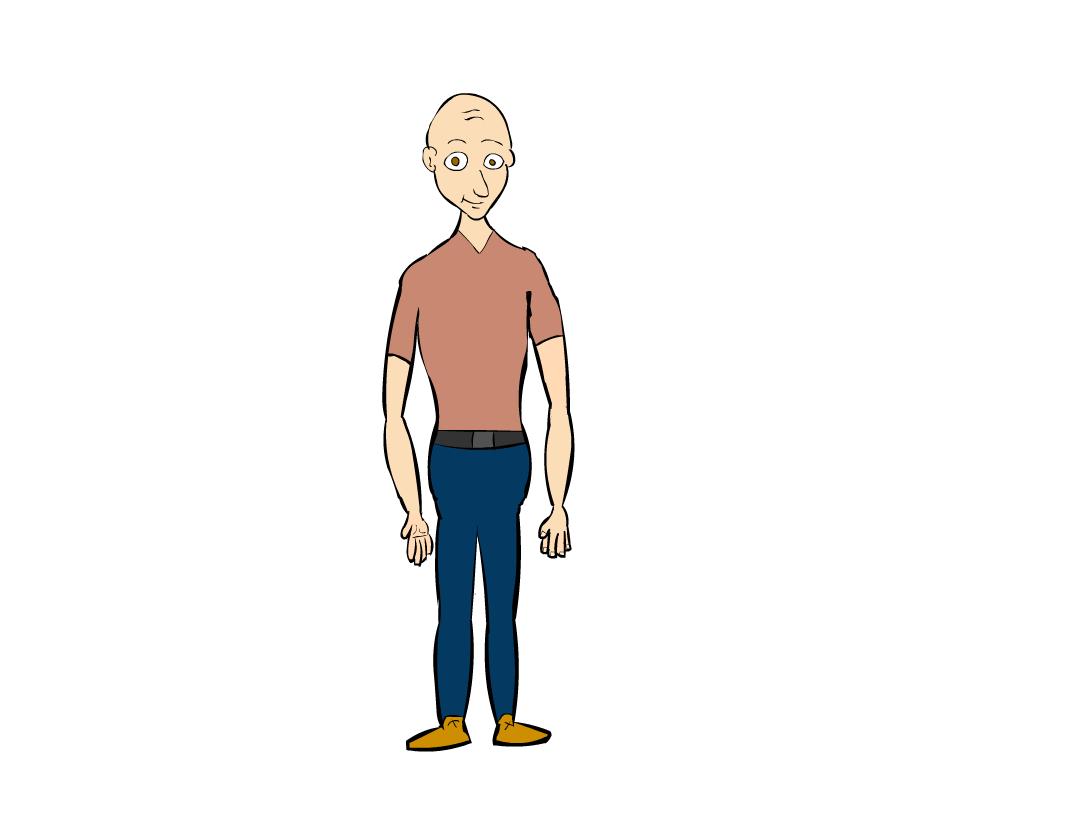 a guy drawn by me