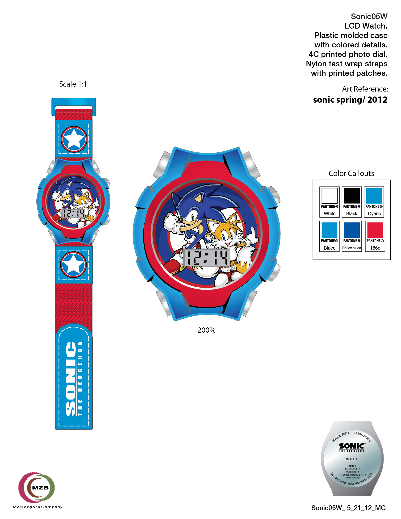 sonic kids product design