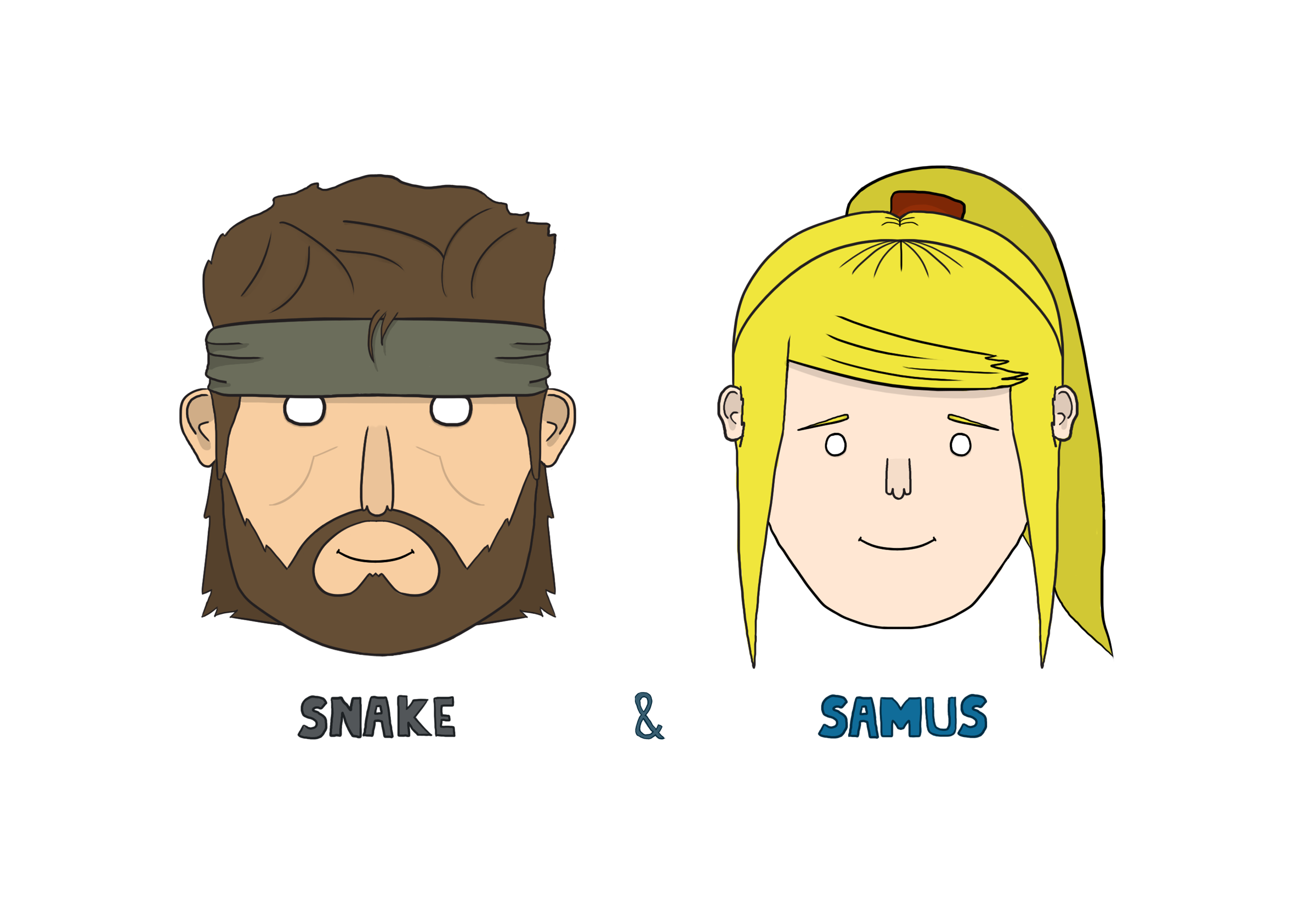 Snake and Samus