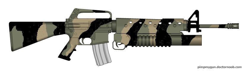 M16A1 Woodland