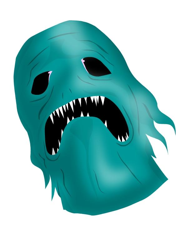 green blue monser