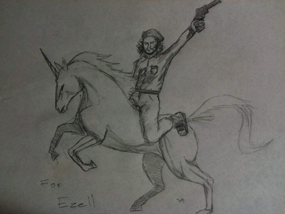 Che Guevara On a Unicorn