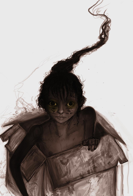 Cardboard kid