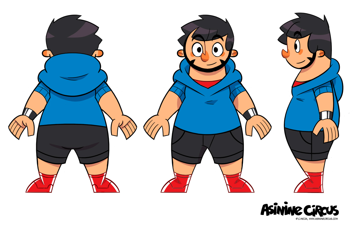 Character turnaround sheet.