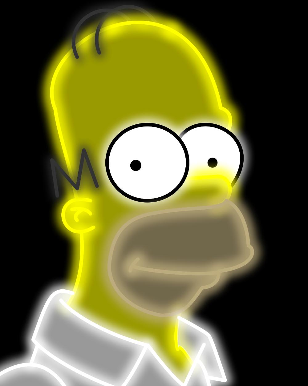 Neon Homer