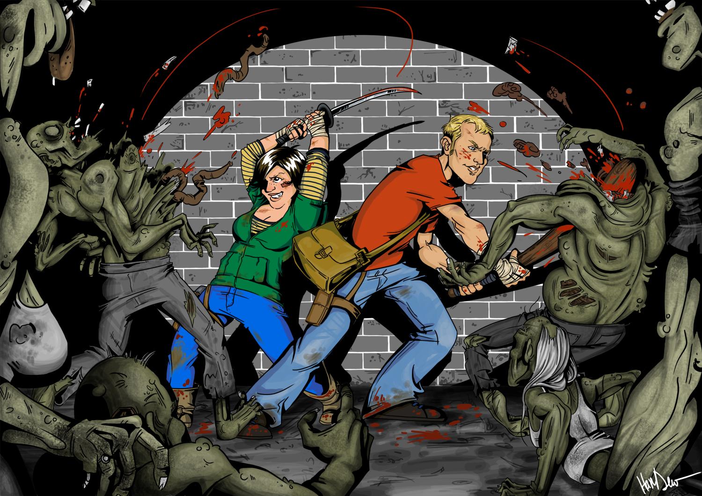 Mauling Them Zombies