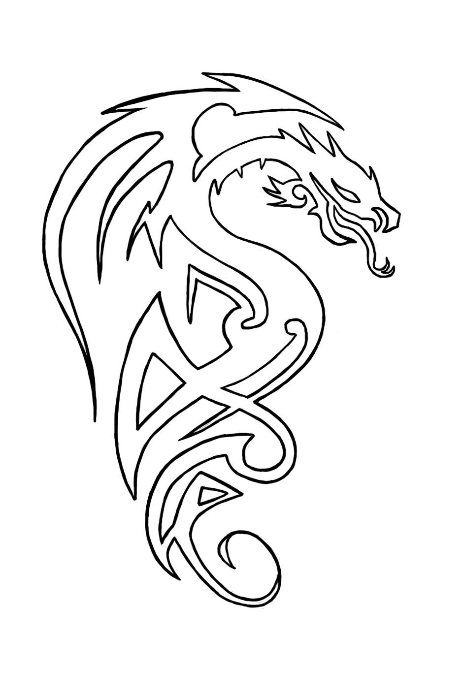 Dragon - tattoo design