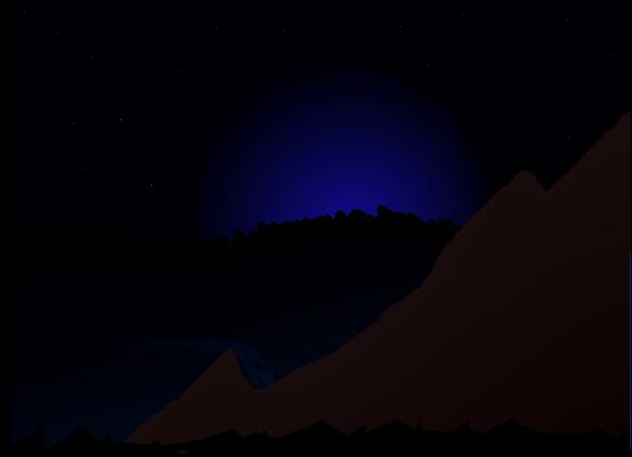 Night time moonlight