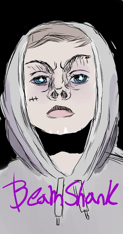 Sketchy self portrait