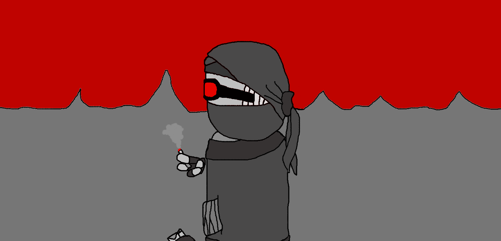 Hank Smoking