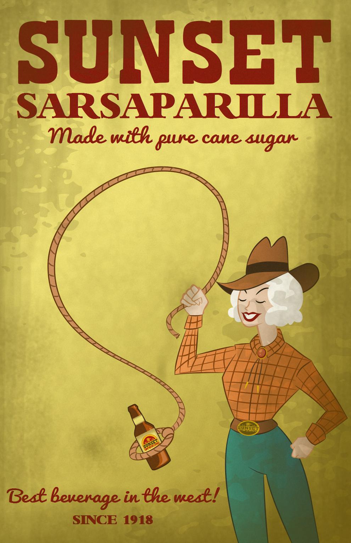 Sunset Sarsaparilla Advertisem