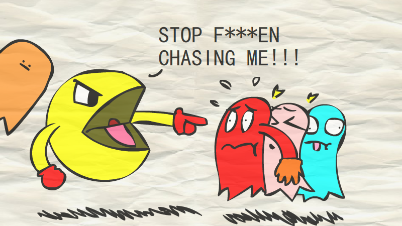 Pac-man's outrage