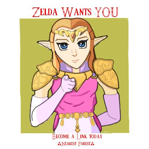 Zelda Recruit Poster