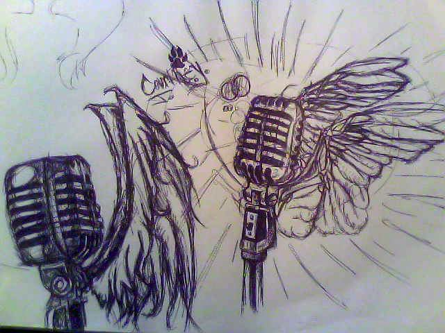Microphones with wings