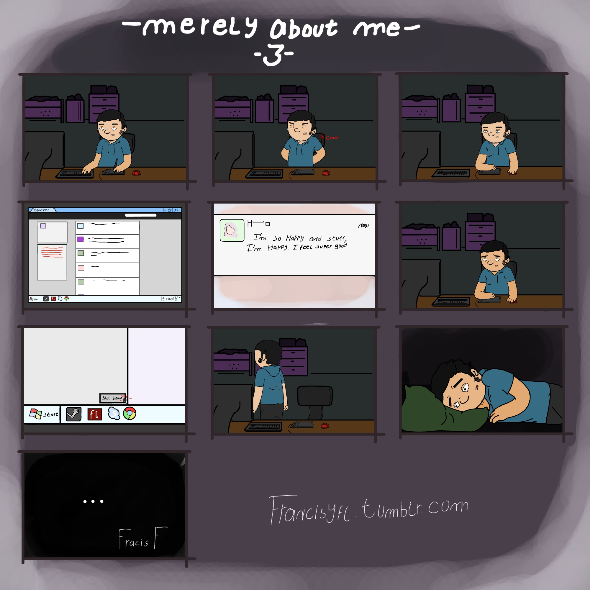 [Comic] Merely about me - 3